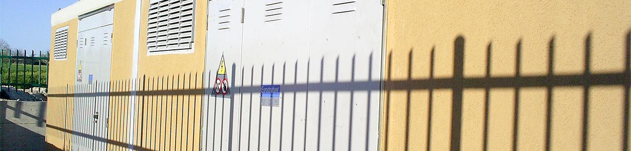 Porte griglie vetroresina alluminio metallo Cabina Elettrica